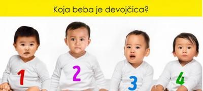 Psihološki test: Koja od četiri bebe je devojčica?
